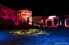 Paris's house under pink light for her awesome Birthday Party 2012