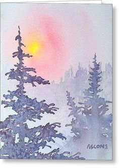 Winter Mist Greeting Card by Teresa Ascone