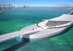Un impresionante #puente para #Doha obra de #calatrava #arquitectura #ingeniería de #caminos y #puentes.