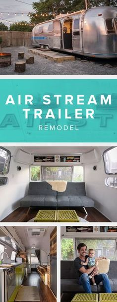This air stream trailer remodel is great source of inspiration for modern interior decor. We love how light and airy it is inside.