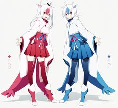human version gijinka pokemon, Latios and Latias
