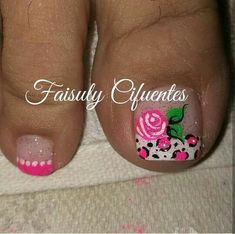 Pedicure Nail Art, Toe Nail Art, Acrylic Nails, Cute Pedicure Designs, Toe Nail Designs, Luv Nails, Pretty Nails, Summer Toe Designs, Cute Pedicures