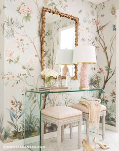Decor Inspiration: Perfectly Pretty in Little Rock, Arkansas -- interior design by Krista Lewis, photography by Rett Peek for At Home in Arkansas My New Room, My Room, Bedroom Decor, Wall Decor, Master Bedroom, Master Suite, Rose Bedroom, Master Closet, Bedroom Sets