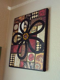 Scrap Paper Wall Hanging, I would omit the flower