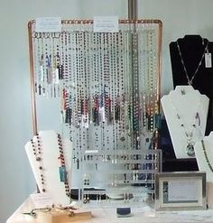 Copper pipe jewelry display - especially with lots of fittings and dials