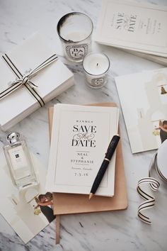 A classic Save the Date Minted design that is sure to inspire both modern and traditional brides. Snap by @lovestefani.