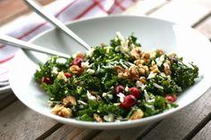 Grønnkålsalat + tørkede tranebær + blomkålparmesan = Supergrønn Supermat!