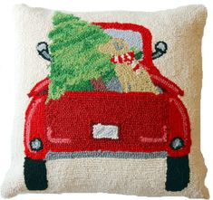 Back Of The Truck Yellow Labrador Christmas Tree Pillow – For the Love Of Dogs - Shopping for a Cause