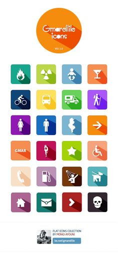 Gmarellile - 24 Free Flat Icons