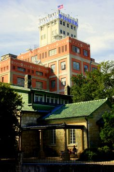 Pioneer Flour Mill & Guenther House Restaurant, San Antonio, TX // The tower of the old Pioneer Flour Mill stands watch at the southernmost end of King William. The name of the Guenther family which owned it survives today both as the name of the District avenue that passes it, and as the name of the Guenther House restaurant which sits in the tower's shadow.
