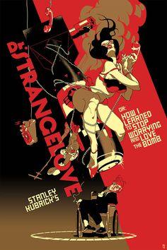 Poster Design: Uma seleção de filmes de Stanley Kubrick pelo ilustrador Tomer…