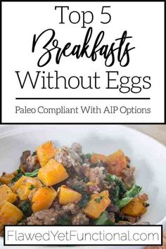 Do you need delicious breakfast recipes free of eggs, dairy, and gluten? Try these healthy, hearty breakfast options that are Paleo and AIP (with adjustments) approved! #breakfast #paleo #AIP