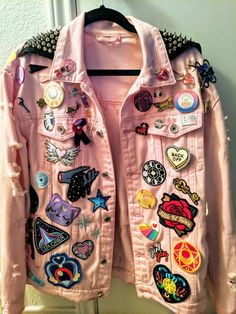 Best Fashion Tips Denim Fashion, Fashion Outfits, Latex Fashion, Gothic Fashion, Fasion, Moda Punk, Punk Jackets, Cool Jackets, Jean Vintage