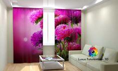 Vorhang Fotogardine Fotovorhang mit Motiv  Blume  Fotodruck 3D. Maßanfertigung.