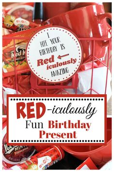 This is a red-iculously fun birthday gift that is perfect for anyone. We love this simple birthday gift idea, and you will too. #birthdaygift #birthdaypresent #birthdayidea #gifts #fungiftideas #funbirthdaypresents
