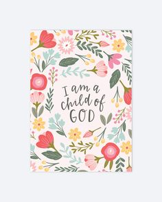 Items similar to I am a Child of God - LDS Quote - Christian Wall Art - Nursery Art on Etsy Lds Quotes, Bible Verses Quotes, Inspirational Quotes, Scriptures, Yoga Quotes, Christian Wall Art, Christian Quotes, Christian Women, Christian Life