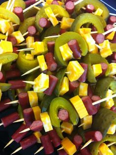 if not now, when?: State Faired Themed: Food on a Stick Potluck
