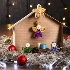 26 Fun And Easy Activities Quilling Christmas, Christmas Paper Crafts, Christmas Cards To Make, Christmas Activities, Christmas Diy, Christmas Decorations, Christmas Ornaments, Quilling Videos, Quilling Craft