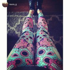 Sugar skull leggings <3  Badass workout pants and leggings for girls who love the gym