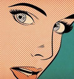 Woman Pop Art by Joseph McDermott