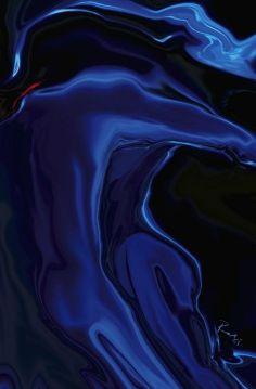 blue & black - The Blue Kiss by Rabi Khan