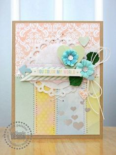 COLOR MY WORLD Card Pink Paislee Color Wash - Two Peas in a Bucket