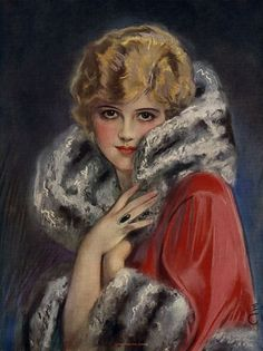 Rare Earl Christy Pin-Up Print 1926 Stylish Flapper Is Ready for the Opera Fine Vintage Pins, Vintage Art, Vintage Ladies, Mats Gustafson, Pin Up Illustration, Illustrations, Female Pictures, Print Calendar, Art Deco Era