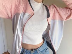 Quilting and holographic bomber jacket