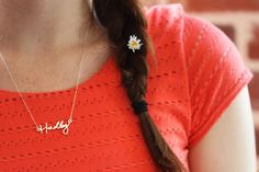 Custom Handwritten Necklace - Silver