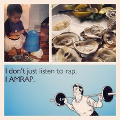 [September Photo a Day Challenge] 24: 3 Things. I love my little brother, fresh food (especially seafood), and #CrossFit. #fattyfolyfe #fmsphotoaday