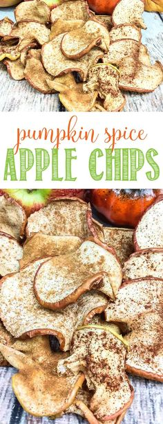Pumpkin Spice Apple Chips   Fall Treat   Autumn Apple Recipe
