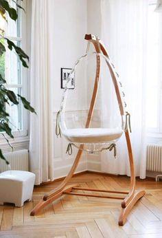 What a cute, modern baby idea! Baby Bedroom, Nursery Room, Kids Bedroom, Child's Room, Girl Nursery, Nursery Ideas, Girl Room, Baby Boy Nurseries, Baby Cribs