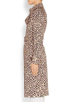 Givenchy - Trench Coat In Leopard-print Cotton - Leopard print - FR38