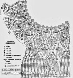 Crochet Blouse Patterns Pineapple and lace crochet sweater pattern 1 - Free Lace and Pineapple Crochet Lace Sweater. T-shirt Au Crochet, Pull Crochet, Gilet Crochet, Mode Crochet, Crochet Diagram, Crochet Woman, Crochet Chart, Crochet Cardigan, Crochet Sweaters