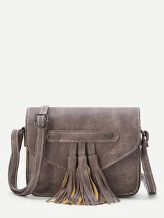Shop Coffee Faux Leather Tassel Flap Bag online. SheIn offers Coffee Faux Leather Tassel Flap Bag & more to fit your fashionable needs.