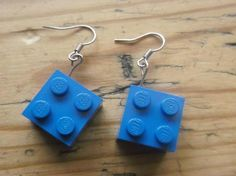 Block earrings made using LEGO® £5.00