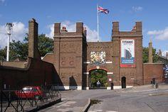 main gate, historic chatham dockyards, kent