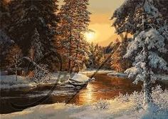 Sunset Snow Scene Scenery DIY Digital Painting By Number Modern Wall Art Canvas Painting Christmas Gift Room Decor Acrylic Paint Set, Acrylic Painting Canvas, Diy Painting, Painting Snow, Winter Painting, Artist Painting, Landscape Pictures, Landscape Paintings, Marco Diy