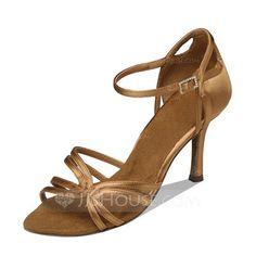 329e1bd6d1a8  US  31.99  Women s Satin Heels Sandals Latin Dance Shoes Latin Dance Shoes,