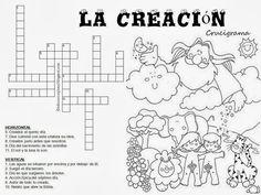 """Educar con Jesús: La Creación en un """"cruce"""" de caminos // crucigrama// En este blog hay muchas hojas de actividades"""