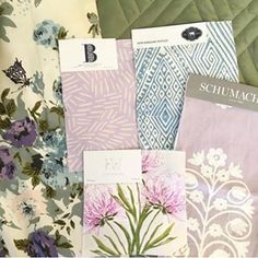 """Beautiful lilac and green vignette featuring our """"Millie"""" fabric @thesimplesketchbook"""