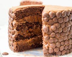 Bolo MOUSSE de chocolate com damasco
