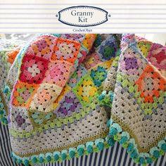 Crochet Pattern Bloom Blanket step by step US by CrochetObjet