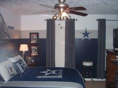 Love The Paint On The Walls. That Is Cool. Dallas Cowboys RoomSoftball ...