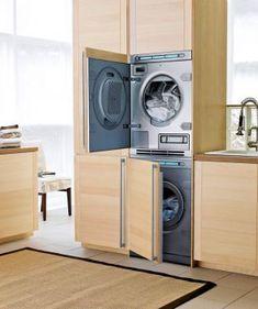 Small Bathroom Designs With Washer And Dryer washer dryer hidden under kitchen island - google search | kitchen