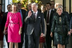 King Philippe,Queen Mathilde and Princess Astrid received the Olympic medalists and Paralympics from Rio
