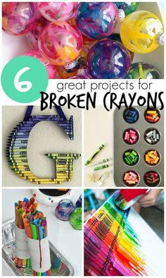 6 Projects that Reuse Broken Crayons– Crayon Crafts! – Creative Juice - My CMS Recycled Crayons, Diy Crayons, Recycled Crafts Kids, Broken Crayons, Melting Crayons, Crafts With Crayons, Homemade Crayons, Diy Arts And Crafts, Cute Crafts