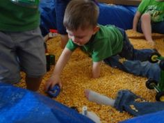 A corn pit! Great idea to remember for little man's birthday when he gets older! Genius