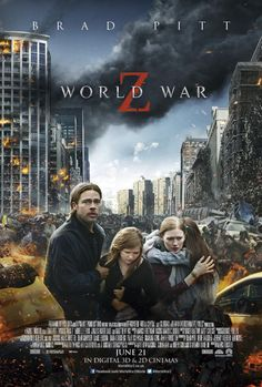 World War Z - Movie Poster - (released not into zombie movies - but love Brad Pitt! Brad Pitt, Films Hd, Films Cinema, Z Movie, Love Movie, Marc Forster, Mireille Enos, Image Film, Zombie Movies