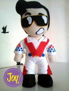 Boneco Elvis Presley feltro
